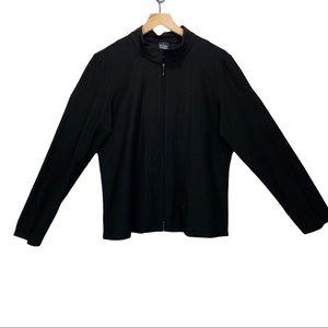 Eileen Fisher stand collar crop zip jacket